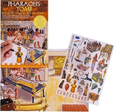 Pharaoh's Tomb - Rub Down Transfers Ancient Egyptian
