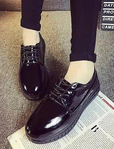 ZQ hug Scarpe Donna - Sneakers alla moda - Tempo libero / Formale - Comoda / Punta arrotondata - Plateau - Finta pelle - Nero / Bianco , white-us8 / eu39 / uk6 / cn39 , white-us8 / eu39 / uk6 / cn39 black-us8 / eu39 / uk6 / cn39