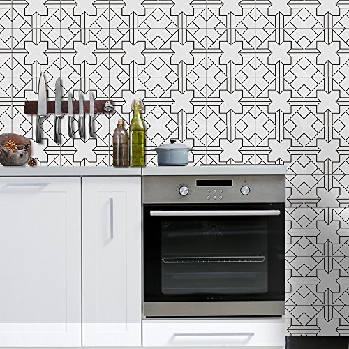 Pag Creative Home Décor Self-adhesive PVC Tile-like Sticker for Living Room Kitchen Bathroom Wall Floor Decorative Decals 20cmx5m (7.87 x 196.85 inches) (WTS011)