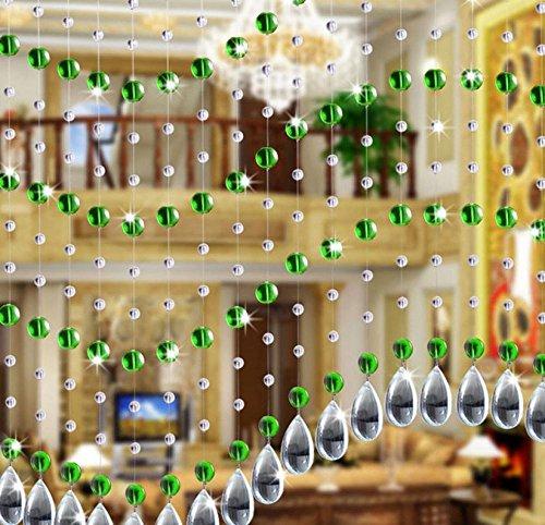 Hunpta Kristall Glasperle Vorhang Luxus Wohnzimmer Schlafzimmer Fenster Tür Hochzeit Dekor (B)