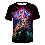 Hot sale Stranger Things 3 3D Printing T shirt short sleeve shirt Customized t shirt