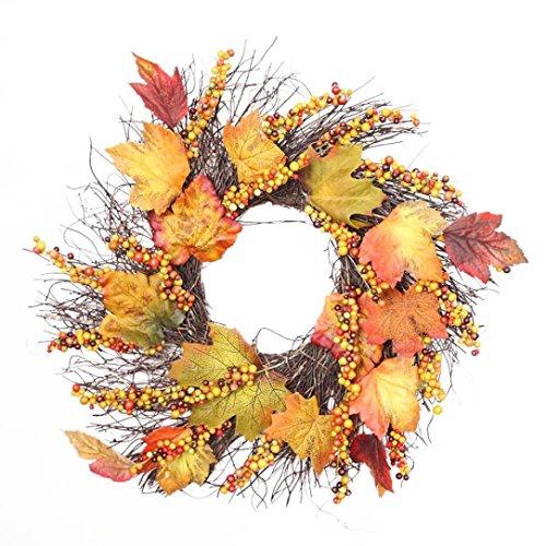 orn Blatt Girlande HARRYSTORE Festival Dekoration Kranz Mauer Ornament (Niedlich Billige Halloween-dekoration)