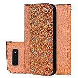 Galaxy S10 Plus Hülle, Leder Tasche Handyhülle Flip Wallet Schutzhülle für Samsung Galaxy S10...