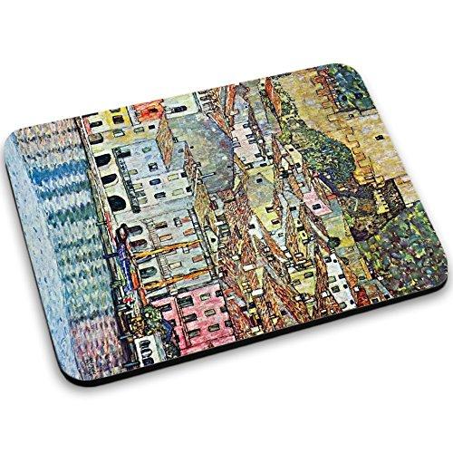 Preisvergleich Produktbild Klimt - Malcena At The Gardasee,  Mousepad Anti Rutsch Unterseite für Optimalen Halt Kompatibel mit allen Maustypen (Kugel,  Optisch,  Laser) Ideal für Gamer und für Grafikdesigner.