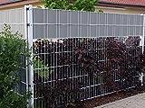 50 Meter Sichtschutzstreifen Zaunfolie Zaunblende Sichtschutz Windschutz für Gitterzaun Gittermattenzäune Zaun Tor Garten