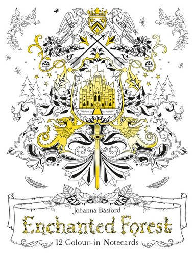 Enchanted Forest: 12 Colour-in Notecards (Colouring Notecards)