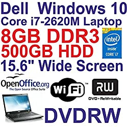 Windows 10 Dell Latitude E5520 Core I7 Laptop - 8gb Ddr3 - 500gb - Dvdrw - Wi-fi