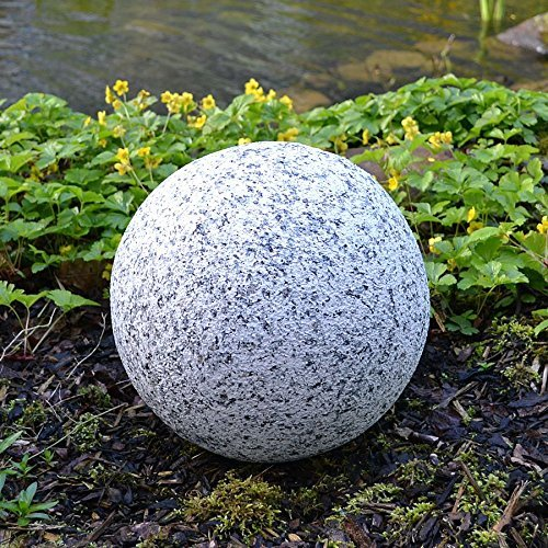 Buri Dekokugel in Granitoptik 30cm Gartenkugel Granitkugel Steinkugel Gartendeko Deko (Kugel Granit)
