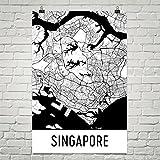 Singapur Poster, Singapur Kunstdruck, Singapur Wandkunst, Singapur Karte, Singapur Stadtplan, Singapur Insel Stadt Karte Kunst, Singapur Geschenk, Singapur Dekor, (24