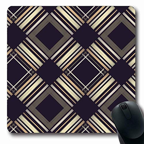 Mousepads Sketch Abstract Stripes Geometric Pattern Helle Boho Bluse Grenze Canvas Design Kleid Längliche Form Rutschfeste Gaming Mouse Pad Gummi Längliche Matte,Gummimatte 11,8'x 9,8' , 3 mm Dicke