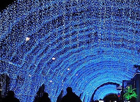H&M LED blanche ultra brilliante String s'allume le jour de Noël décoration pour le jardin extérieur maison Noël , blue