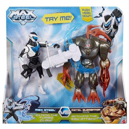 Preisvergleich Produktbild Max Steel Mattel BHJ04 vs. Metal Elementor Battle Pack Figuren