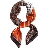 DEBAIJIA Donna Seta Sciarpa Quadrata Raso Sottile Moda Smooth Wrap Turbante 70 * 70 cm