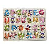 Legno Marquee lettere piolo Puzzle Board, Moonvvin facile-Hold puzzle giocattolo ABC per i bambini in età prescolare