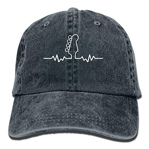 Preisvergleich Produktbild Hoswee Unisex Kappe / Baseballkappe,  Baseball Cap Bass Guitar Heartbeat 1 Men Snapback Casquettes Adjustable Baseball Cap