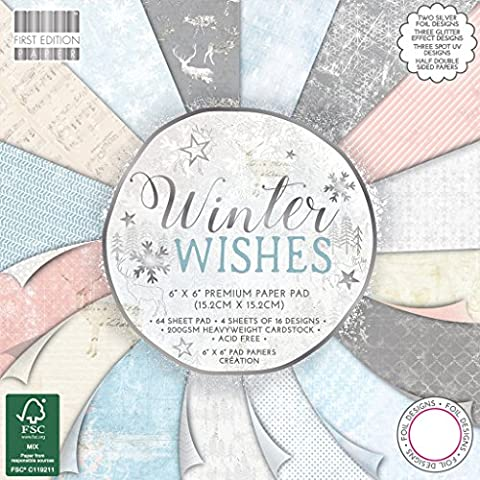 Premium Craft Cardstock First Edition 6x6 Designer Paper Pad - Winter Wishes