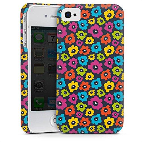 Apple iPhone 4 Housse Étui Silicone Coque Protection Fleurs Fleurs Motif Cas Premium mat