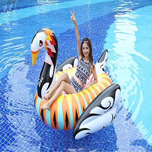 res Pool Schwimmbad Riesiger Schwarzweiss-goldener Schwan-sich Hin- Und Herbewegender Insel-Sommer-Spielzeug-Pool-Party- Erwachsene Und Kinder ()
