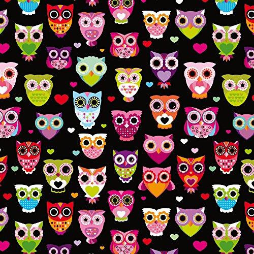 Apple iPhone 5 Case Skin Sticker aus Vinyl-Folie Aufkleber Eulen Owl Muster Bunt DesignSkins® glänzend