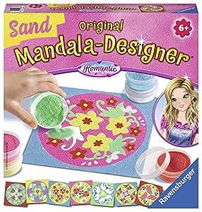 Ravensburger - Mandala Designer Sand Romantic, con 8 Modelos Mandala y 6 frascos de Arena (298877)