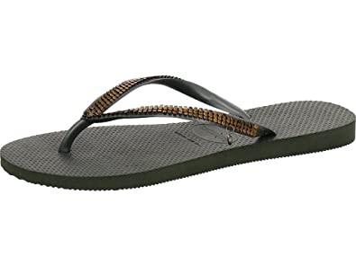 bd79cbbf72a4 Havaianas Slim Metal Mesh Sandals Black  Amazon.co.uk  Shoes   Bags
