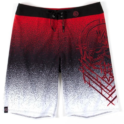 Metal Mulisha - - Meld Boardshorts Homme Black w/ Red