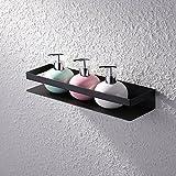 KES SUS en acier inoxydable 304étagère de douche de bain Panier étagère de rangement à suspendre Organiseur support mural résistant à la rouille, Bsc205-p, noir