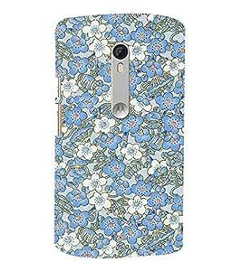 Abstract Floral Design 3D Hard Polycarbonate Designer Back Case Cover for Motorola Moto G3 :: Motorola Moto G (3rd Gen)