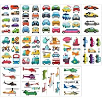 AiTuiTui Car and Transportation Temporary Tattoo for kids