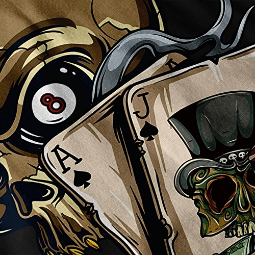 Schädel Poker Karte Kasino Spielen Tod Damen S-2XL Muskelshirt | Wellcoda Schwarz