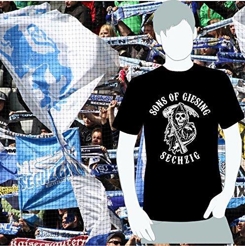 World of Football Sechzig T-Shirt SONS OF GIESING schwarz - L