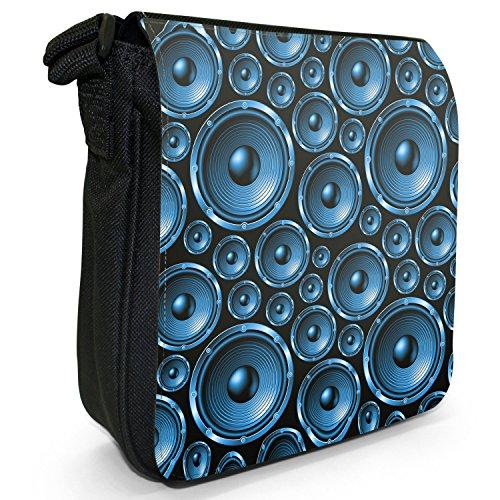 Fancy A Snuggle, Borsa a tracolla donna Muster mit Lautsprechern Blau