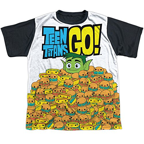 Teen Titans Go! Beast Boy Burgers & Dogs Boys Youth Black Back T-Shirt Tee