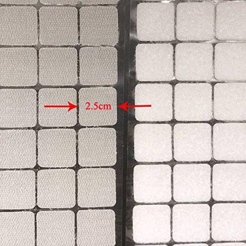 Arlent 2cm weiß quadratisch Träger 250 Paar Selbst adhestive Haken Schlaufe selbstklebend Streifen mit wasserdicht Sticky Klebstoff Verschluss