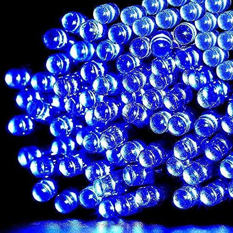 PS Hunters a energia solare 12m 100LED Festival decorazione impermeabile strisce luci decorazione natalizia luci per esterno, giardini, Indoor, Bar, matrimoni, Natale, partito Decorazione, Blau