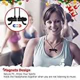 Bluetooth Earphones with Mic,SoundPEATS Q30 Dual 4.1 Magnetic Wireless Headsets IPX 6 for Gym,Secure Fit In Ear works with iPhone, iPad, Samsung and More,Super Bass,Lightweight,8 Hours Play Time