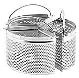 H&H Confezione3 Spicchi Inox Alessandro Borghese Tondo Cm18 Utensili da Cucina, Acciaio Inossidabile, 18x18x10 cm