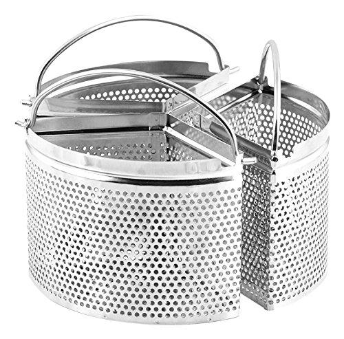 H&h alessandro borghese confezione 3 spicchi il lusso della semplicità, acciaio inossidabile, 18x18x10 cm