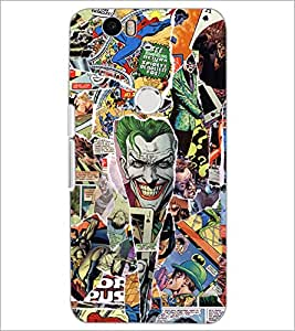 PrintDhaba Graffiti D-5569 Back Case Cover for HUAWEI NEXUS 6P (Multi-Coloured)