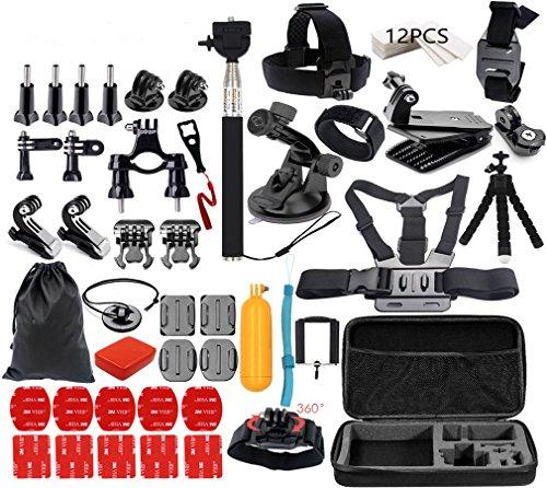 Zubehör Set für Gopro Hero 5 4 3+ 3 2 1 und Action Kameras Bundle Kit Mount für SJCAM SJ4000 / Xiaomi Yi Kamera 4K Lightdow WiMiUS DBPOWER