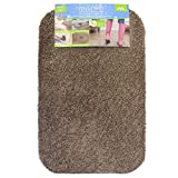 JVL Dirt Angel Machine Washable Barrier Door Mat - 50 x 75 cm, Caramel