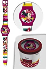 Minnie Armbanduhr Analog, Minnie-Maus, mit Schachtel von Disney Minnie Maus
