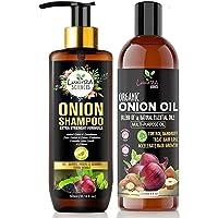 Luxura Sciences Onion Hair Oil for hair growth 250ml & Onion Shampoo 300ml Combo