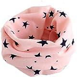Sciarpa Scaldacollo A Stelle Per Bambini In Cotone, Fazzoletto Da Collo O Sciarpa Ad Anello