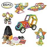 eLander Magnetische Bausteine Kinder 101tlg | eLander Magnetspielzeug, 3D Pädagogische Spielzeug, Geburtstag Kindertag Geschenk für Kinder ab 3 Jahre