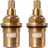"Universeel ventiel keramiek bovendeel vervanging voor badkamer keuken in 1/2"" (1 paar warm & koud)"