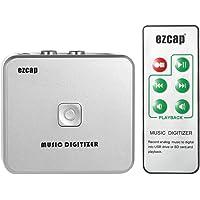 Docooler Audiorekorder EZCAP Audio Capture Recorder Musik Digitizer mit 3,5 mm und RCA IN Ports Speichern auf SD Karte…