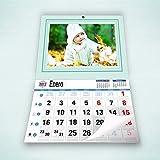 Calendarios personalizados faldilla 43 x 60 cm - Imprime tu pack de 2 calendarios idénticos.