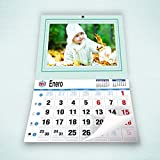 Fotocenter Calendarios Personalizados faldilla 43 x 60 cm - Imprime tu Pack de 2 calendarios idénticos.