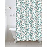 #10: Freelance Value for Money Polyester Bath Shower Bathroom Curtain with 12 hooks, Waterproof, 180 (Width) x 200 (Height) cm